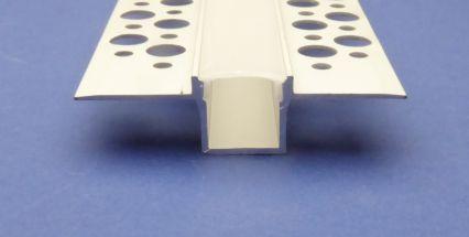 Plaster in Led Profile 3 metre Recessed Black lid