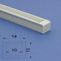 Led Aluminium 2m U channel profile Clear Lid