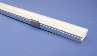 Led Aluminium 2 metre profile Semi Clear Lid