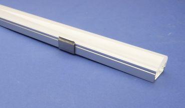 Led Aluminium 2 metre profile Semi Clear Lid