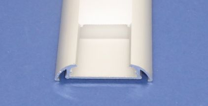 Led Aluminium 2 metre Flat profile Frosted Lid