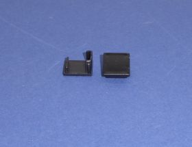 End caps Black For 1413 Flat profile Pair