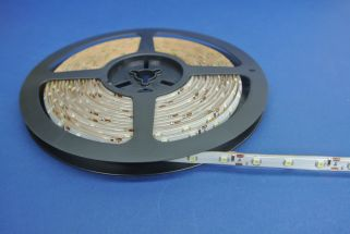 Led Strip Silicon coated 4.8 Watts 3000k White 50 Metres