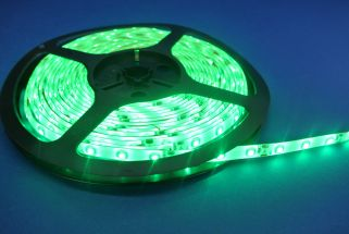 Led Strip Silicon coated 6 Watts Green 5 Metres