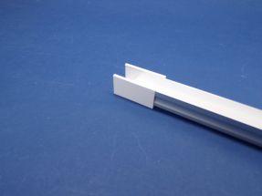 Led Aluminium 2 metre profile Clear Lid