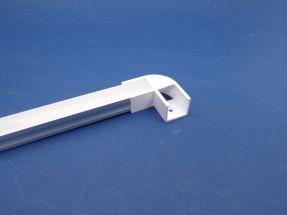 Led Aluminium 2 metre profile Opal Lid