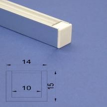 Led Aluminium Polished 2m channel Clear Lid