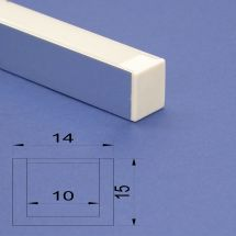 Led Aluminium Polished 2m channel Frosted Lid