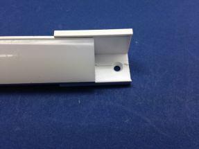 Led Aluminium 2 metre Corner profile Clear Lid