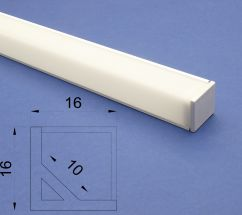Led Aluminium 2m White Corner profile Frosted Lid