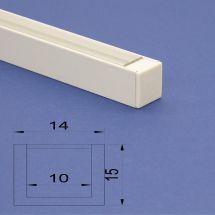 Led Aluminium 2m U channel white Clear Lid
