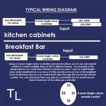 WIRING DIAGRAM - Single colour strip dimming